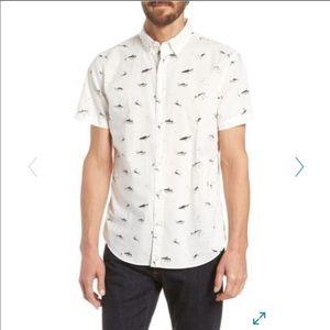 Bonobos Men's Shark Print Shirt M EUC